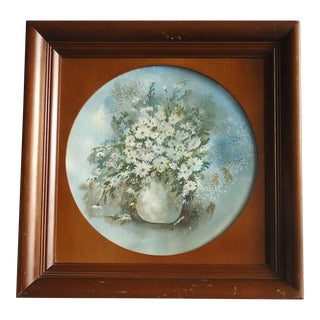 H Coffod Still Life of Daisies Watercolor Painting For Sale