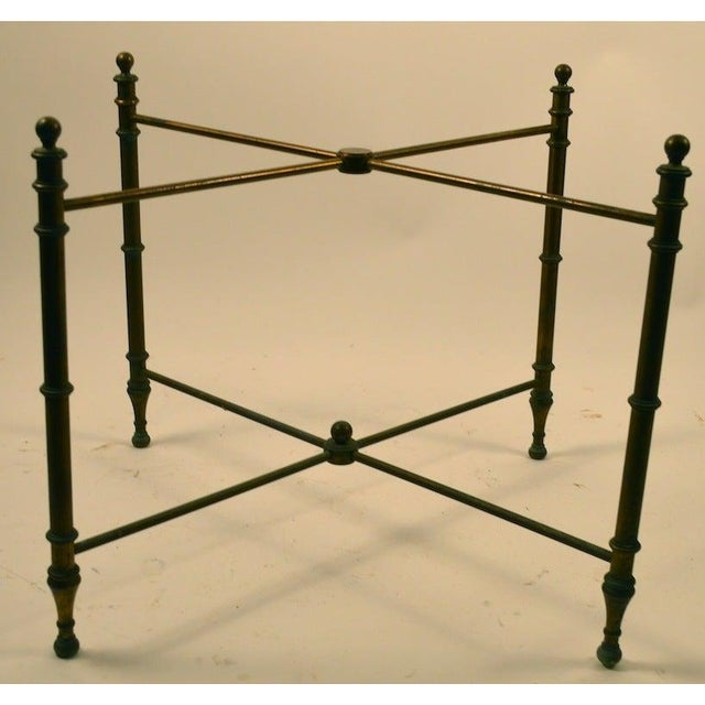 Classical Brass Tray-Top Table For Sale In New York - Image 6 of 7
