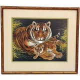 Image of 1970s Vintage Bengal Tiger Original Gouache Painting For Sale