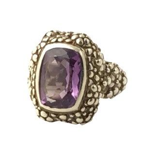 Stephen Dweck Amethyst Sterling Ring For Sale