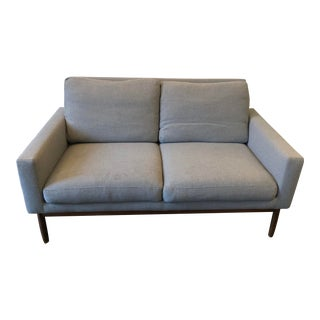 Design Within Reach Mid Century Style Grey Loveseat For Sale