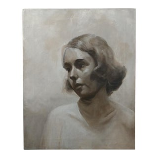 Black & White Actress Oil Painting Portrait
