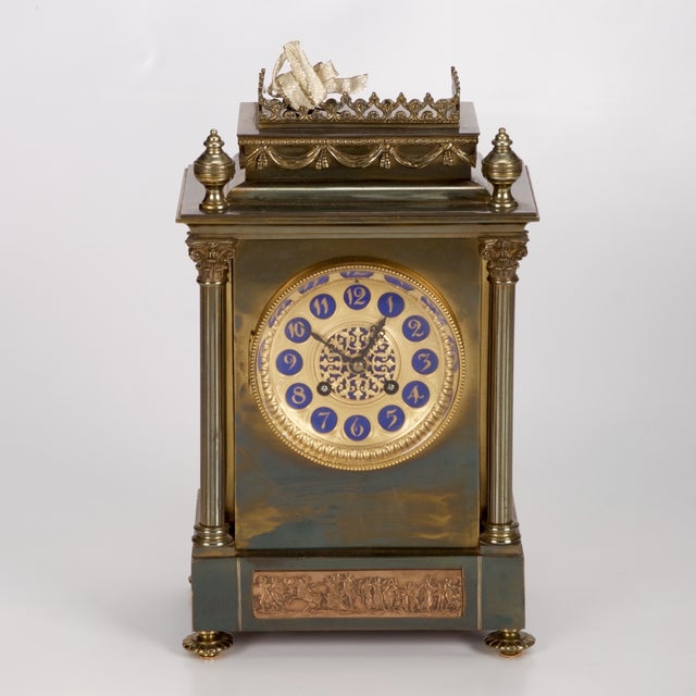 19th Century French Gilt Brass 8 Day Mantel Clock - Image 2 of 6
