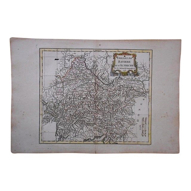 18th C. Antique Map of Germany (Bavaria) & Austria - Image 1 of 3