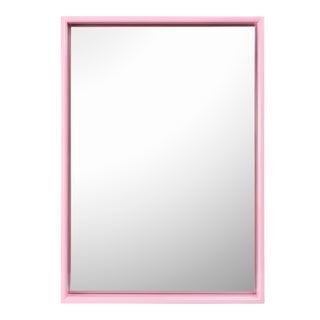 Pentreath & Hall Collection Large Rectangular Mirror in Orange / Pink For Sale