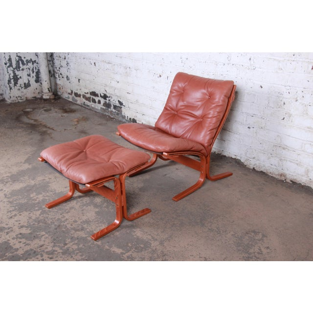 Ingmar Relling for Westnofa Bentwood Teak and Leather Siesta Lounge Chair and Ottoman For Sale - Image 13 of 13