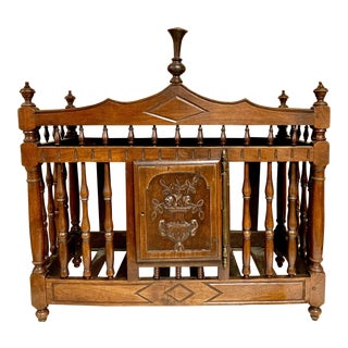 19th-C. Carved French Walnut Louis XV Style Panetiere / Bread Box For Sale