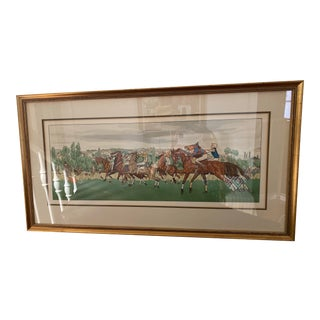Framed Jacques Brissard Racing Print, 1911 For Sale