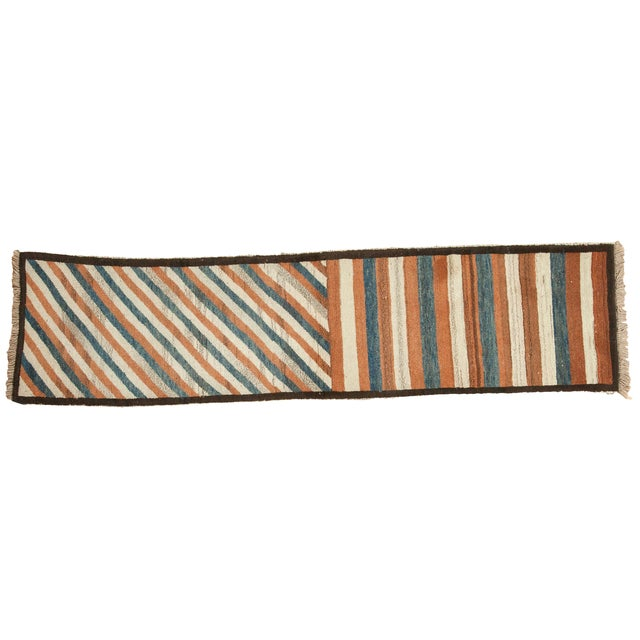 "Vintage Gabbeh Rug Runner - 2' X 7'6"" For Sale In New York - Image 6 of 6"