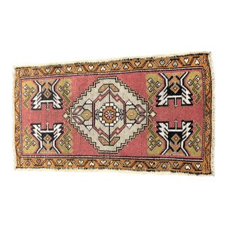 "Antique Turkish Oushak Rug - 1'10"" x 3'5"""