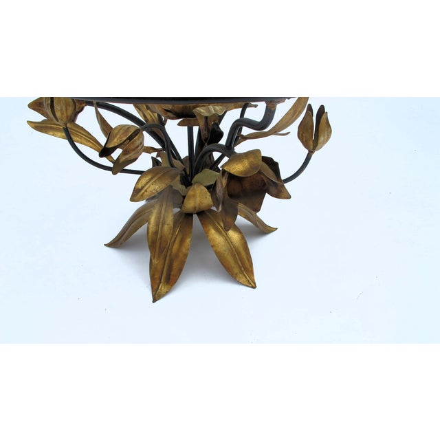 Italian Gold Leaf Occasional Side Table - Image 4 of 5