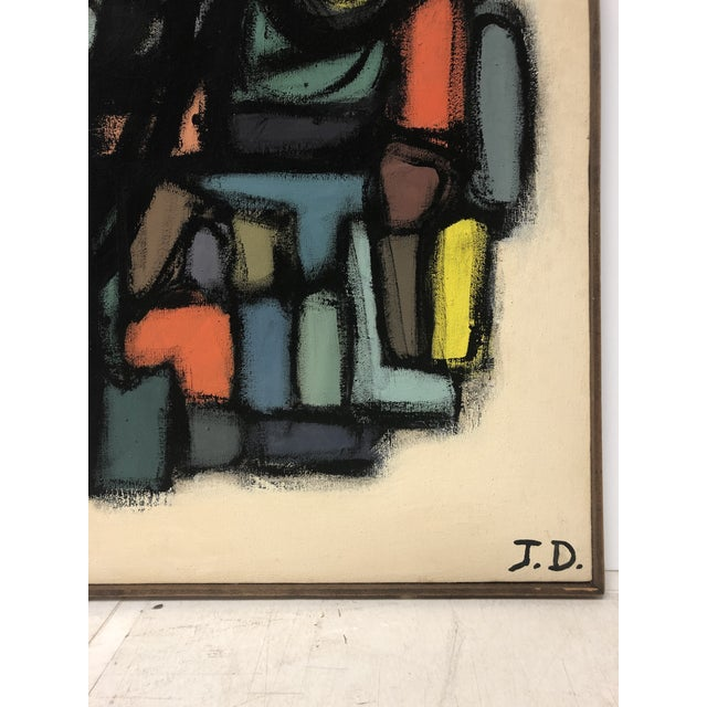 1960's Abstract Oil Painting by J. S. DeYoe For Sale In Chicago - Image 6 of 7