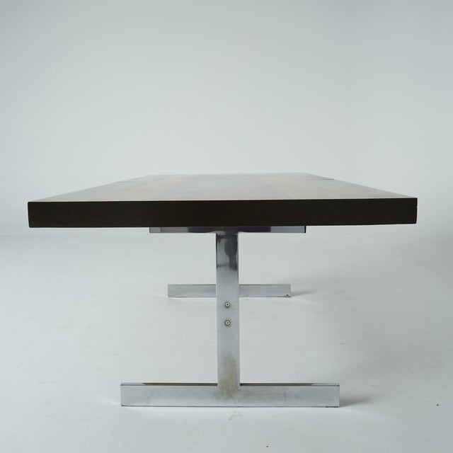 Expandable Mixed Wood Milo Baughman Dining Table - Image 6 of 7