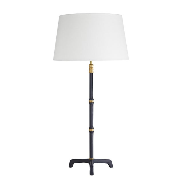 Leather Celerie Kemble for Arteriors Addison Lamp For Sale - Image 7 of 7