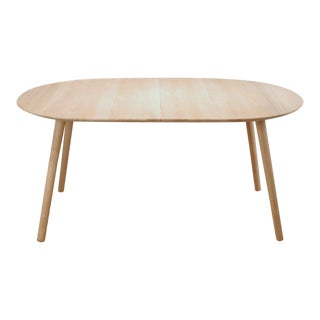 Via Sph Soaped Oak Oval Extension Dining Table