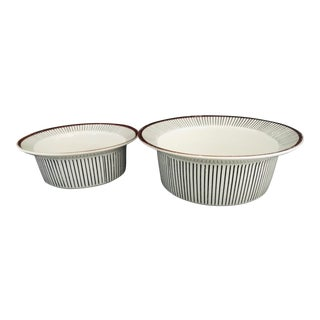 Stig Lindberg for Gustavsberg Spisa Ribb Serving Bowls MCM - Set of 2 For Sale