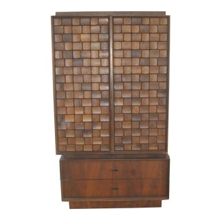 20th Century Brutalist Style Armoire For Sale