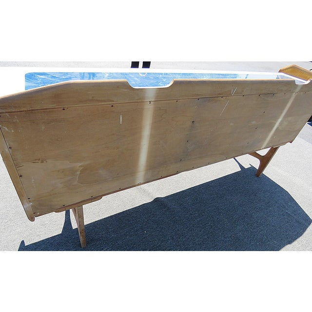 Mid Century Italian Glass Top Credenza For Sale In Philadelphia - Image 6 of 8