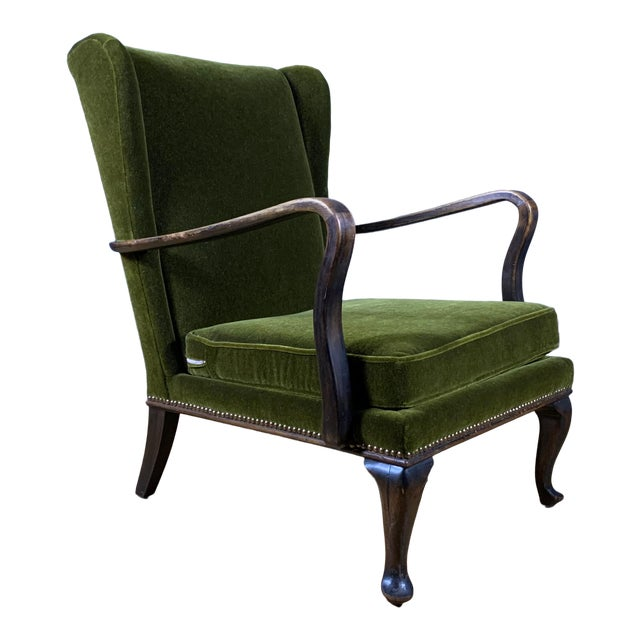 1950s Walter Knoll Mini Wingchair, Mohair, Germany For Sale
