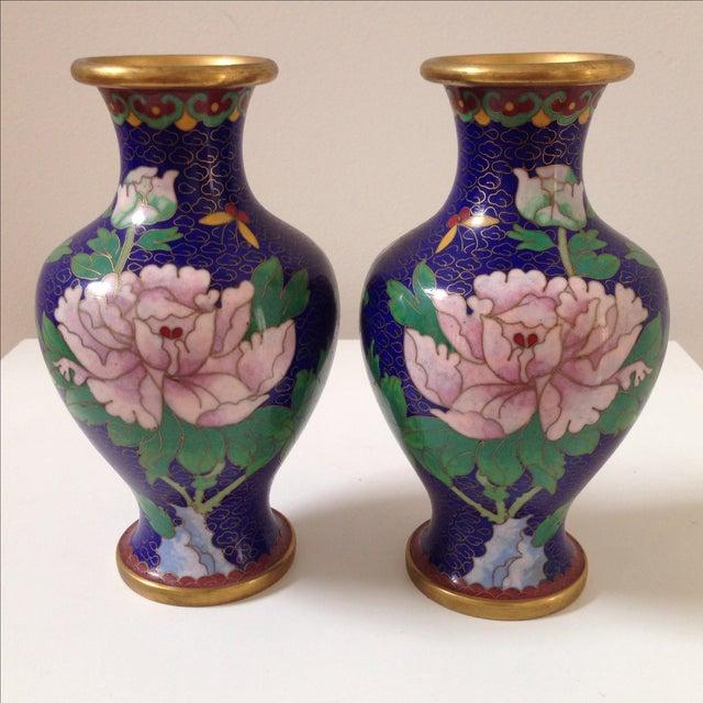 Cloisonné Vases - A Pair - Image 5 of 8