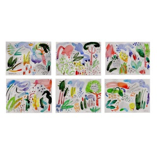 "English Garden Set of Six Giclee Prints 8x10"" Each. For Sale"
