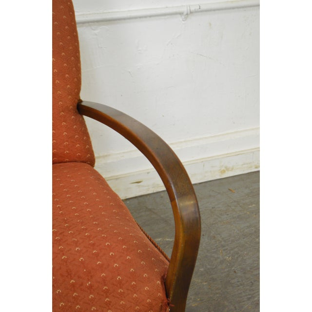Art Deco Style Pair of Open Arm Lounge Chairs - Image 8 of 10