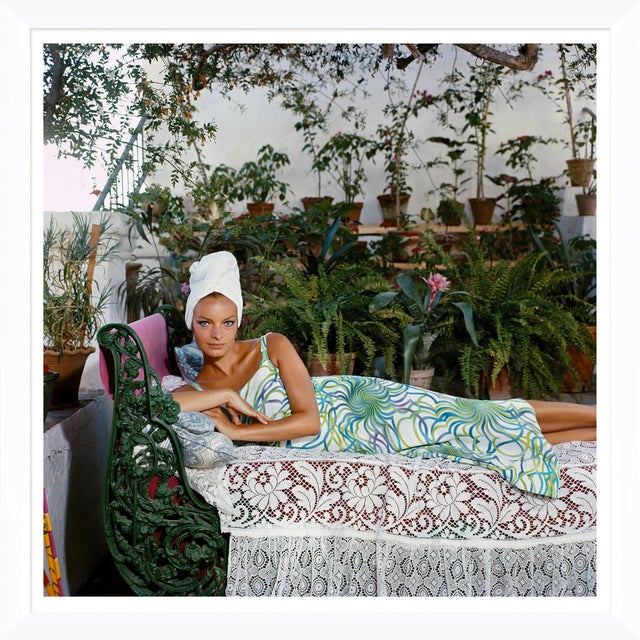 "Slim Aarons Slim Aarons, ""Quiet Afternoon,"" January 1, 1980 Getty Images Gallery Framed Art Print For Sale - Image 4 of 5"