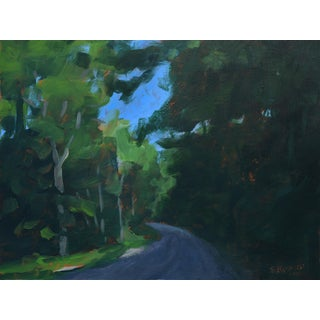 "Stephen Remick ""Gravel Road in Vermont"" Contemporary 2010s Landscape Painting For Sale"