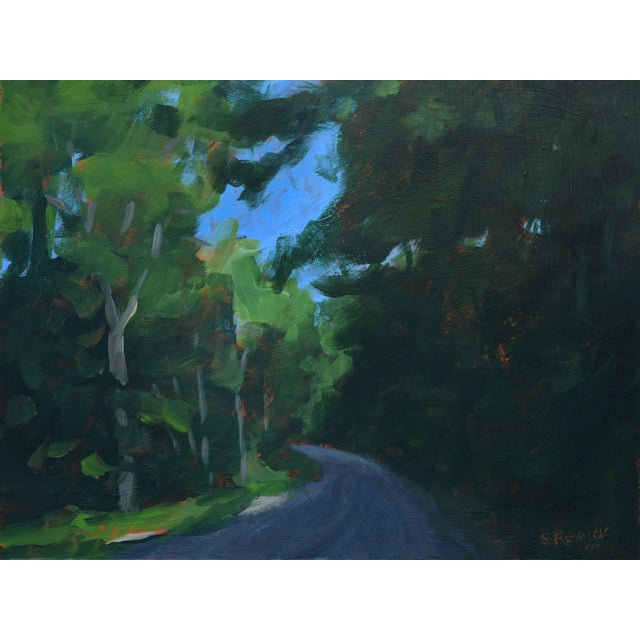 """Stephen Remick """"Gravel Road in Vermont"""" Contemporary 2010s Landscape Painting For Sale"""