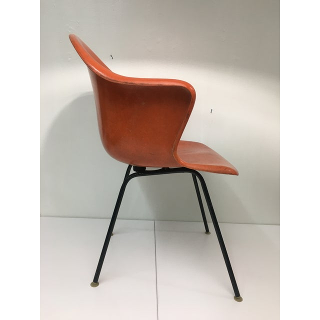 Cole Steel Mid-Century Modern Burnt Orange Shell Chair by Cole Steel For Sale - Image 4 of 12