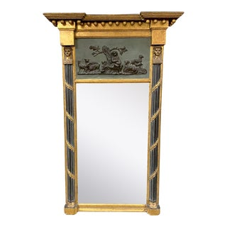English Egyptian Revival Classical Mirror C. 1820 For Sale