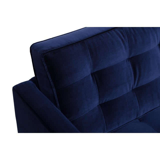 Blue Florence Knoll Sofa in Navy Velvet For Sale - Image 8 of 8