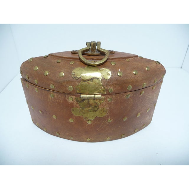 Rustic Wooden Box With Brass Accents - Image 5 of 7