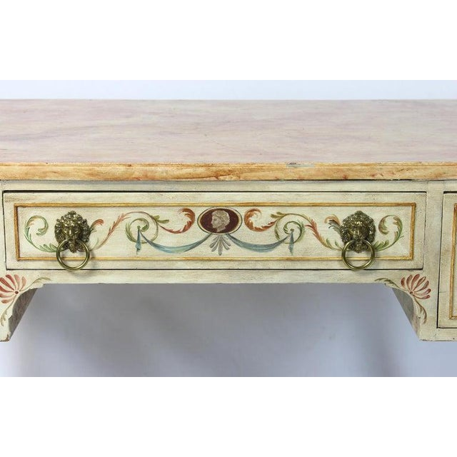 Neoclassical Style Painted Dressing Table or Desk For Sale - Image 9 of 13