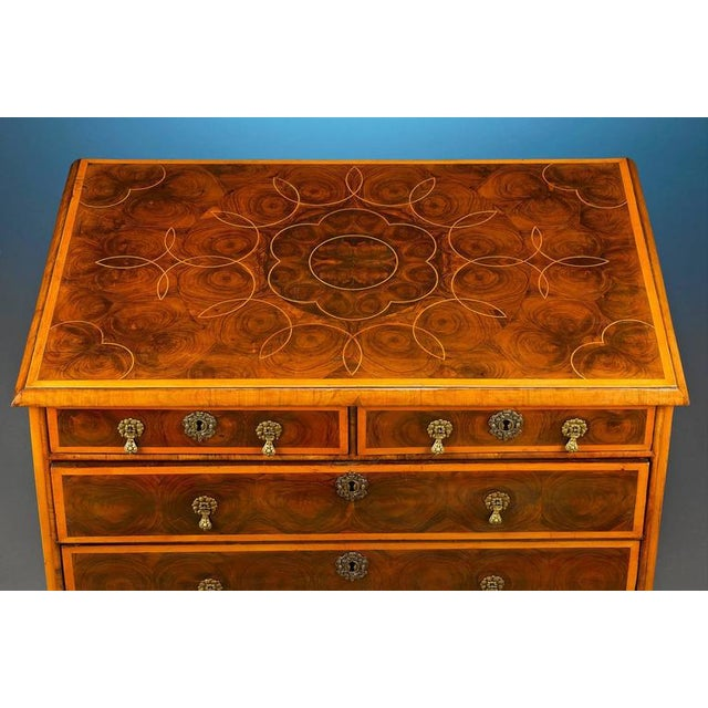 English Traditional English William and Mary Oysterwood Chest For Sale - Image 3 of 4