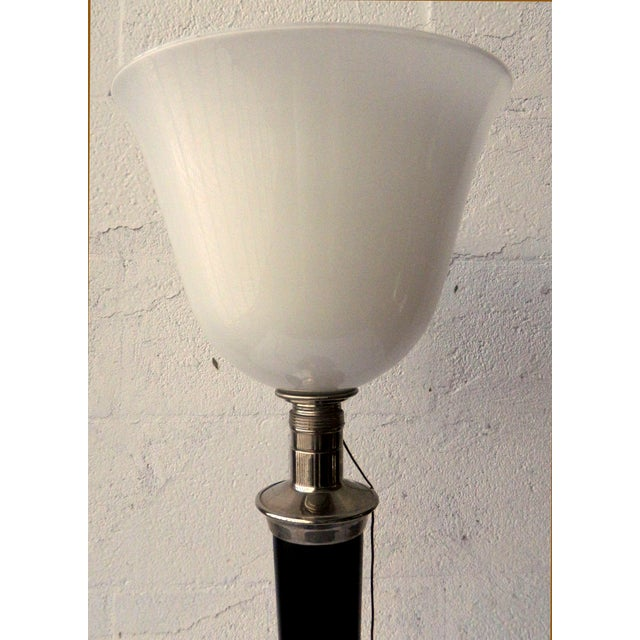 Art Deco Mazda French Torchiere Table Lamp For Sale - Image 3 of 4