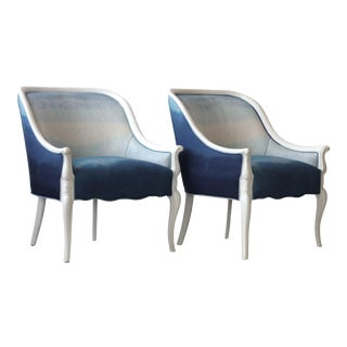 Pair of Upholstered French Occasional Chairs For Sale