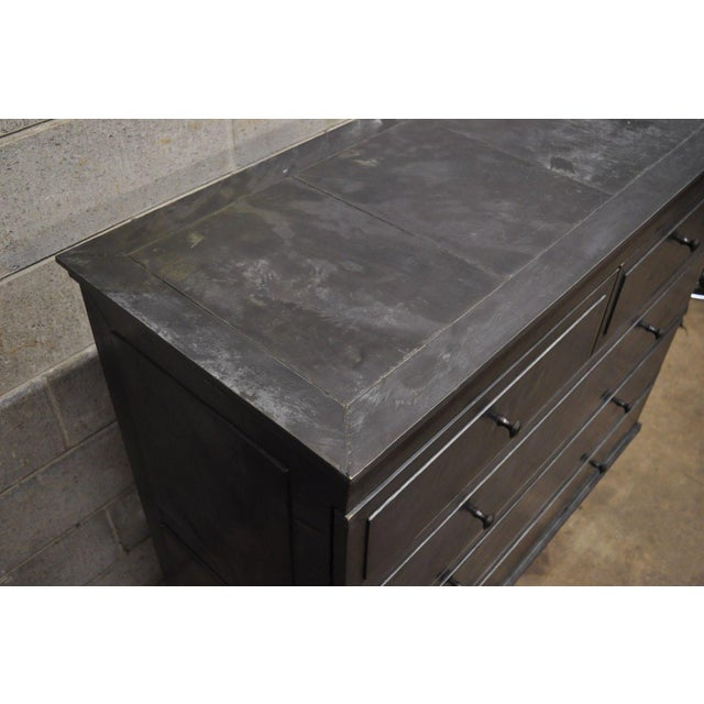 Restoration Hardware Annecy Metal Wrapped Zinc A 5 Drawer Chest Dresser For Sale In Philadelphia - Image 6 of 11