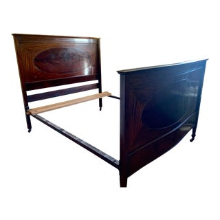 Queen Size Bed Frame 19th Century Cherry With Headboard and Footboard For Sale