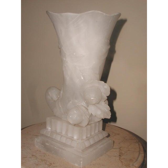 Alabaster Cornucopia Vase C.1900 - Image 7 of 10