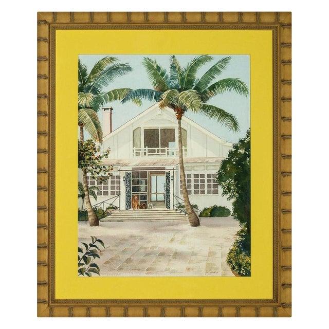 """""""Boca Grande"""" Watercolor by H. K. McVickar - Image 1 of 4"""