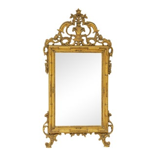 Late 20th Century Giltwood Louis XV Style Hall Mirror For Sale