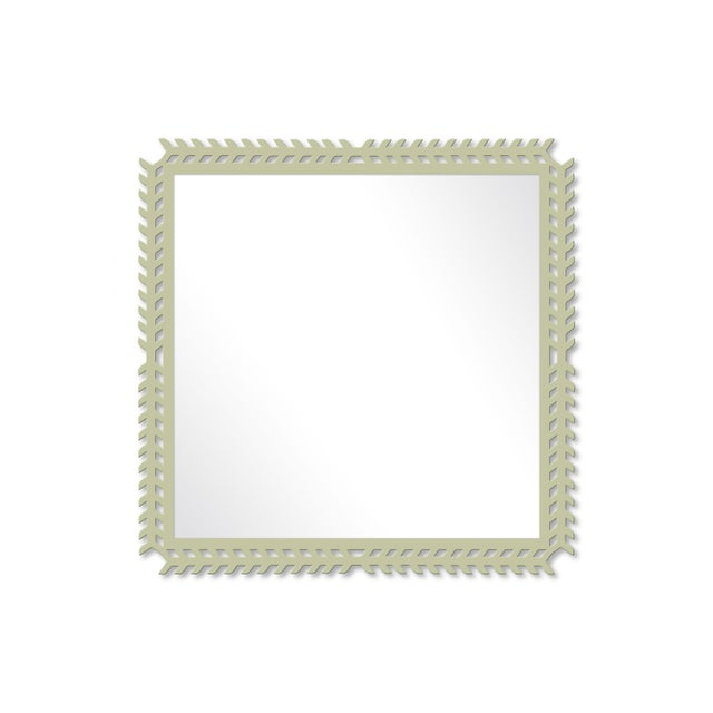 Fleur Home x Chairish Toulouse Trellis Mirror in Cooking Apple Green, 24x24 For Sale - Image 4 of 4