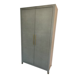 Restoration Hardware Graydon Shagreen Cabinet/Armoire For Sale