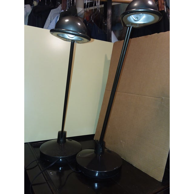 1980s Moving Sale Price $375 Metalarte Design Award Winning Anad E Table Lamps - a Pair For Sale - Image 5 of 9
