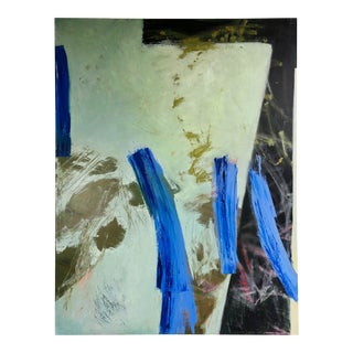 Monumental Abstract Oil on Canvas by Emery Hinkley 1990 For Sale