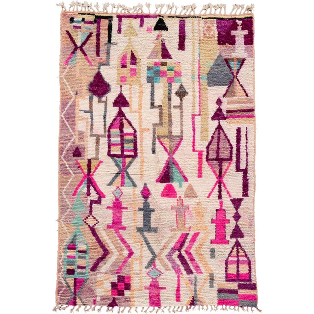 Vintage Azilal Moroccan Wool Rug For Sale - Image 12 of 12