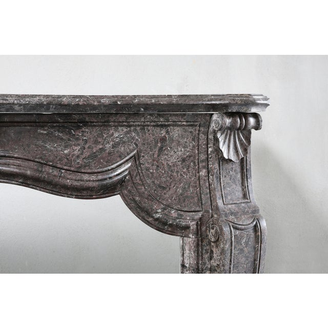 Antique Marble Fireplace - 19th Century - Louis XV For Sale - Image 4 of 9