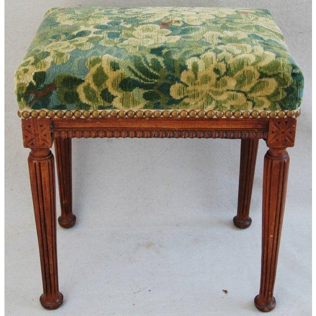 Italian Scalamandre Marly Fabric Bench - Image 7 of 11