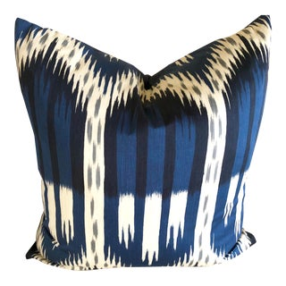 Schumacher Bukhara Ikat Down Insert Pillow For Sale